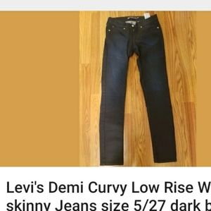 Levi's Demi Curvy Low rise Jean's dark wash size 5